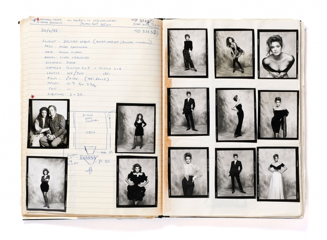 Pages from Terence Donovan's daybook, 26th April 1988