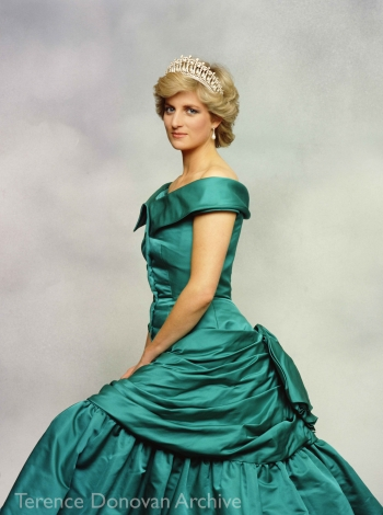 Diana, Princess of Wales, wearing a Victor Edelstein gown