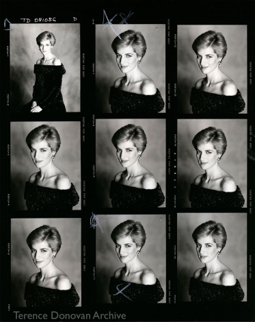 Diana, Princess of Wales contact sheet, 8 October 1986