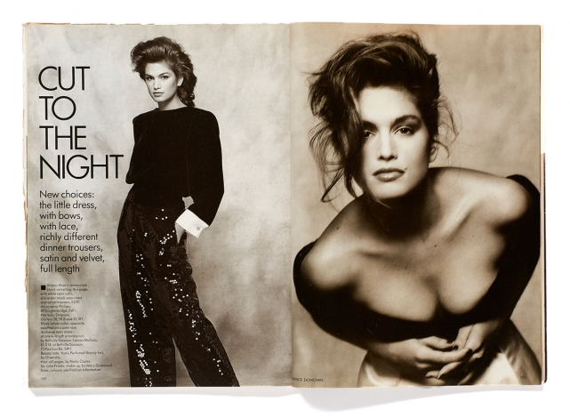 CIndy Crawford by Terence Donovan, British Vogue, August 1988