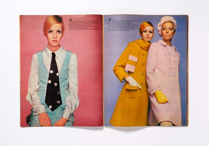A variation of Donovan's 1966 portrait of Twiggy in the August 1966 issue of Woman's Mirror